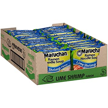 Amazon Com Maruchan Ramen Lime Shrimp Flavor 3 0 Oz Pack Of 24