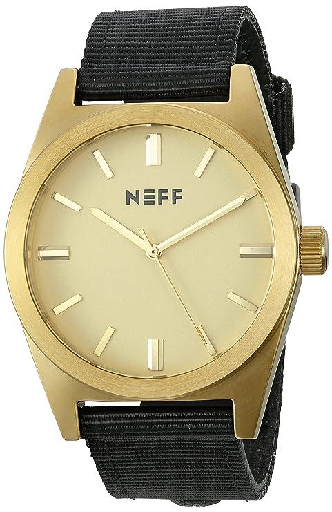 Neff NF0223-GLDBK-OS - Reloj color negro
