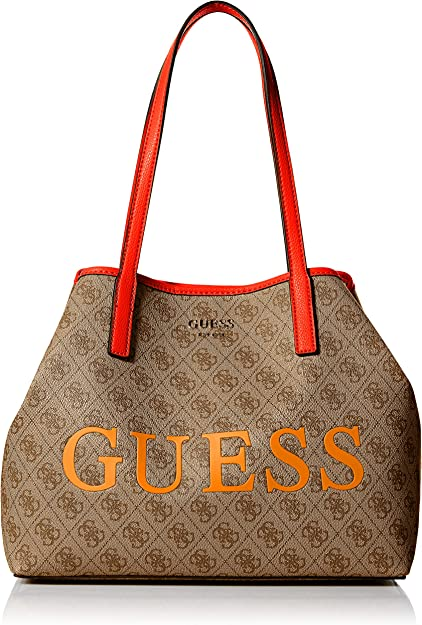 GUESS Vikky Tote, BrownOrange: Amazon.co.uk: Shoes & Bags