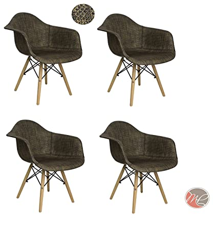 Prime Amazon Com Madison Park Set Of 4 Modern Contemporary Eames Pdpeps Interior Chair Design Pdpepsorg