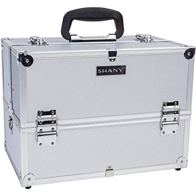 Pro Makeup Train Case with Shoulder Strap and Locks