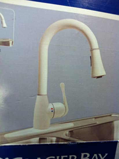 Glacier Bay New-Touch Single Handle Pull Down Faucet White