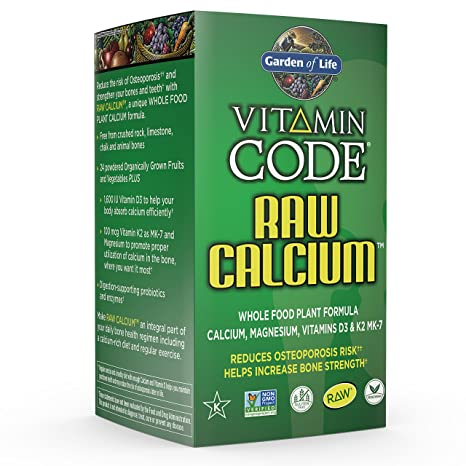 Amazoncom Garden of Life Raw Calcium Supplement Vitamin Code