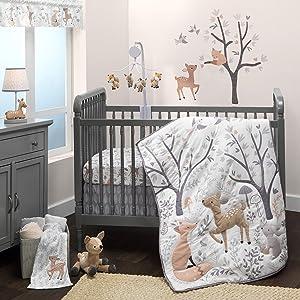 Bedtime Originals Deer Park 3Piece Crib Bedding Set, Multicolor