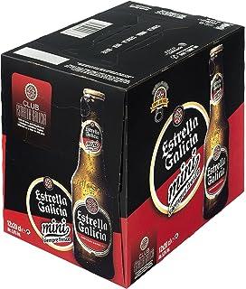 Estrella Galicia Mini cerveza rubia especial pack 12 botellas 20 cl: Amazon.es: Alimentación y bebidas