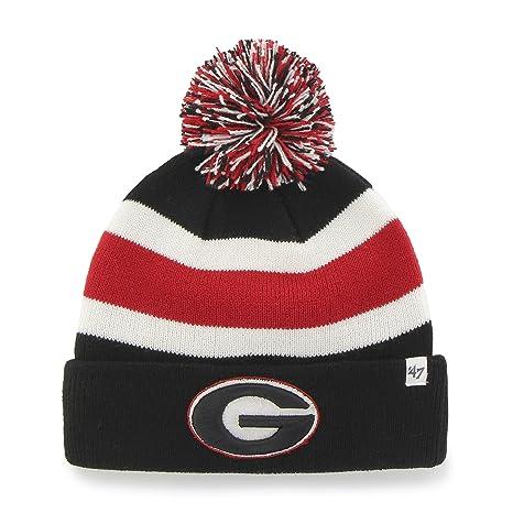 ab9967131cf  47 NCAA Georgia Bulldogs Mens Breakaway Cuff Knit Hat with Pom Breakaway Cuff  Knit Hat