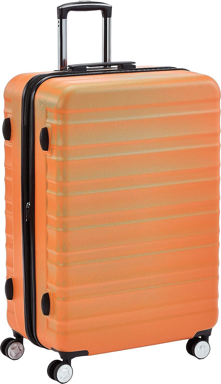 AmazonBasics - Maleta rígida giratoria prémium de 78 cm, naranja