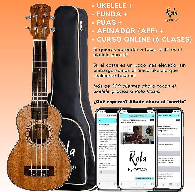 Ukelele Soprano Kit: UKELELE + FUNDA + PÚAS + TUNER APP + ...
