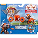 Paw Patrol – Air Rescue – Zuma – Figurine Pat' Patrouille 6 cm + Badge