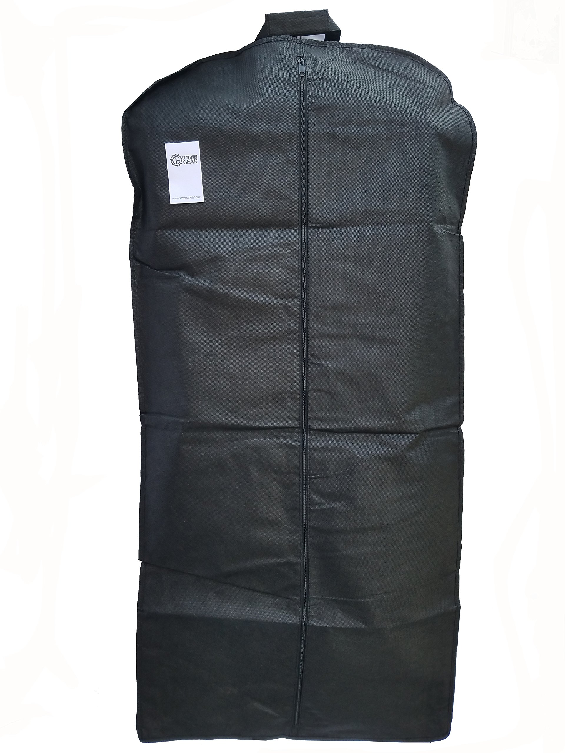 NEW 48'' Breathable Gusseted Travel Garment Bag Cover - For Suits Dress, Clothes, Tux, Jersey Storage Travel (1 PACK) by ImpecGear (Image #2)