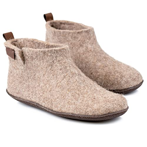 0cd44bc975cc4 Amazon.com: BureBure Classic Felted Wool Ankle Boots Slippers for ...
