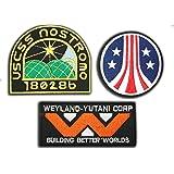 Neuf Alien/aliens/aliens3Weyland Nostromo Marine Patch Lot de 3