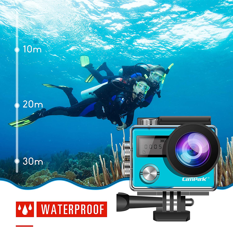 Campark act76 acción CAM WiFi Deportes cámara Ultra HD Impermeable DV Videocámara Sony Sensor y 2 PCS Batería baterías: Amazon.es: Electrónica