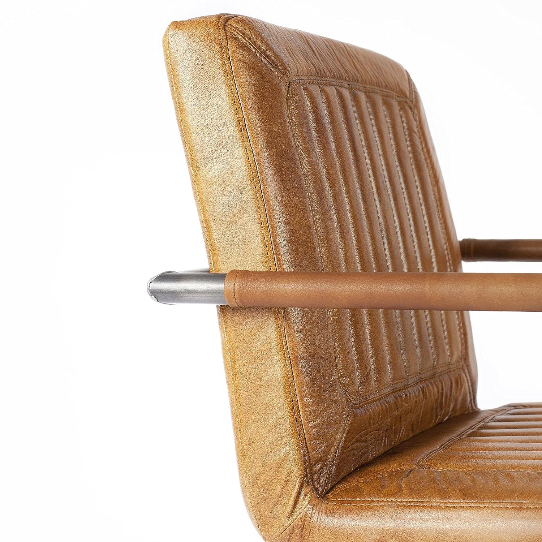 Verzauberkunst Büffelleder Stuhl Foto Von Natumo Runder Freischwinger, Schwingstuhl, Esszimmerstuhl, Retro Vintage