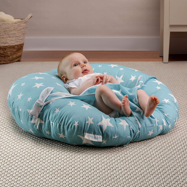 Chaise transportable pour nouveau-n/és Transat nouveau-n/é//Sofa-hamac ergonomique pour enfants et b/éb/és de moins de 8 kg//Id/éal Montessori BANBALOO Coussin oreiller pour berceau ou lit gigogne