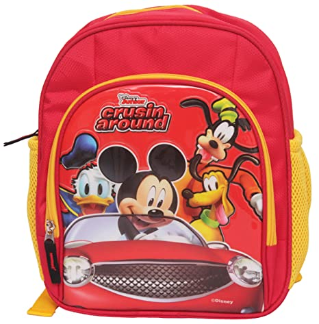 Disney Polyester 12 Inch Red School Bag  Amazon.in  Bags f2e48380ad935