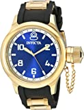 Invicta Men's 1437 Russian Diver Blue Dial Black Polyurethane Watch