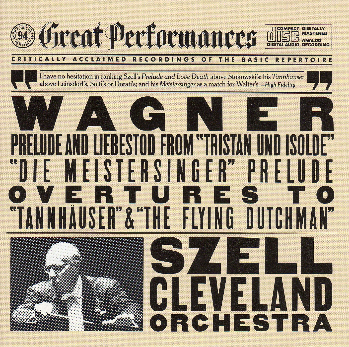 Wagner: Preludes & Overtures - Tristan Und Isolde Tannhauser Flying Dutchman by Sony