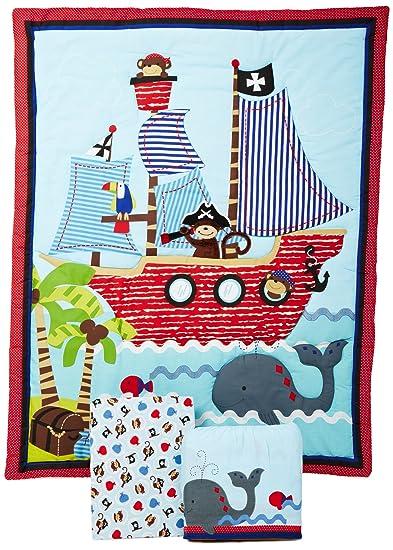 Bedtime Originals 3 Piece Treasure Island Crib Bedding Set