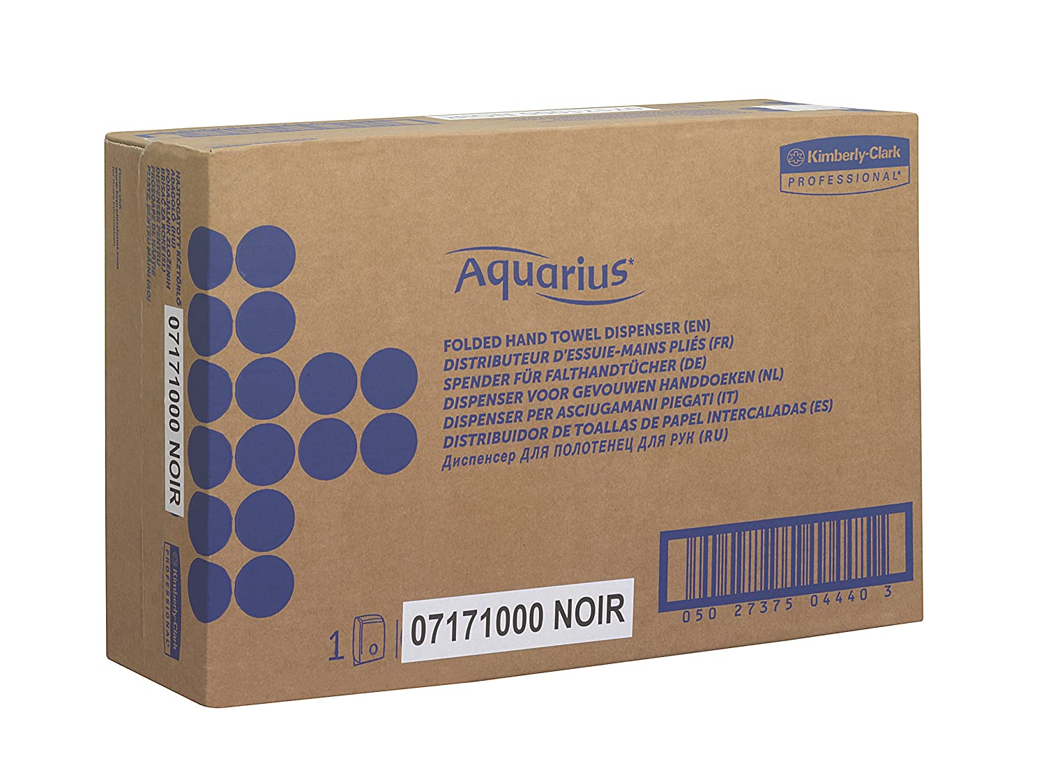 Aquarius 7171 Dispensador de Toallas Secamanos Interplegadas, Negro: Amazon.es: Industria, empresas y ciencia