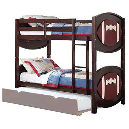 Acme Furniture ACME All Star Football Twin Over Twin Bunk Bed In Espresso