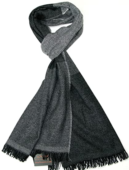 Écharpe en laine pour homme Noir - Écharpe en laine rayée de luxe pour homme  - Écharpes pour cadeau  Amazon.fr  Vêtements et accessoires 2e73588a10e