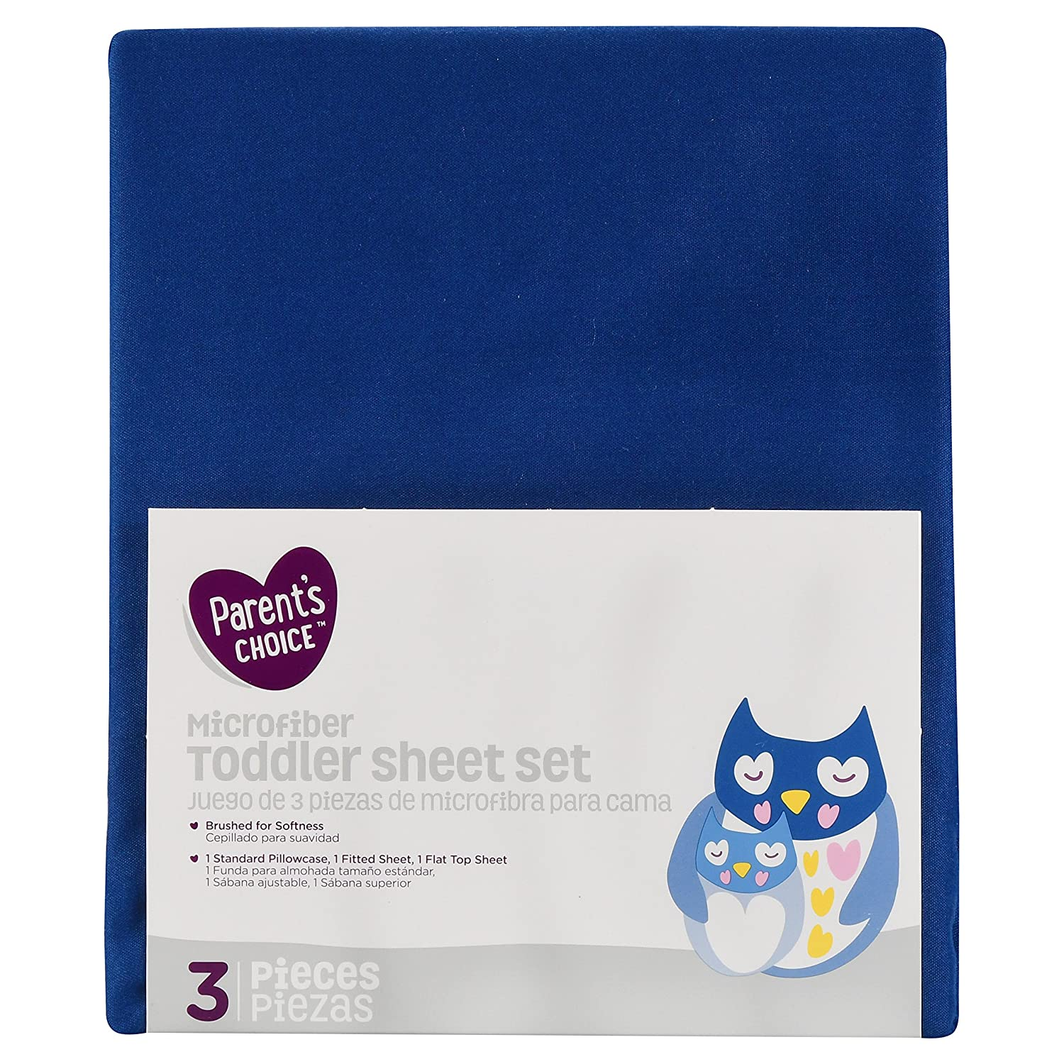 Parent's Choice Toddler Sheet Set, Navy (Blue), 3 Piece Crown Crafts