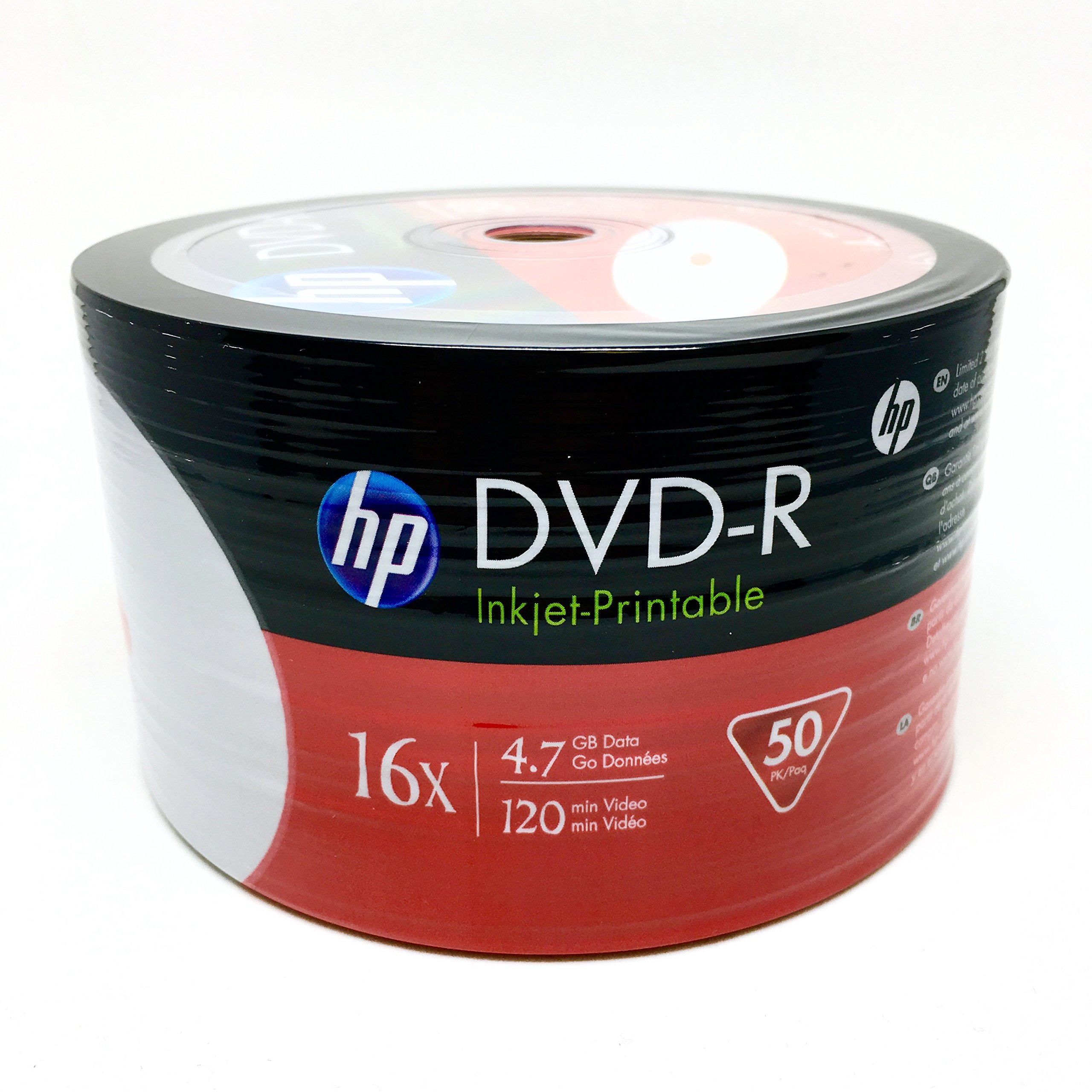 photograph about Hp Printable identify HP DVD-R47 16X White Hub Inkjet Printable Show up 50computer systems The greater part