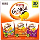Pepperidge Farm Goldfish Classic Mix Variety Pack Crackers, 1 Ounce Snack Packs, 30 Count (200140004714)