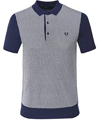 e141bf306 Image Unavailable. Image not available for. Color  Fred Perry Men s Two  Colour Knitted Shirt ...
