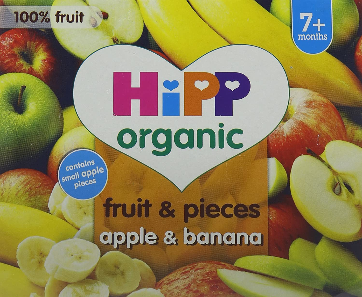 HiPP Organic Apple and Banana with Apple Pieces 400 g (Pack of 6) GB5823.64