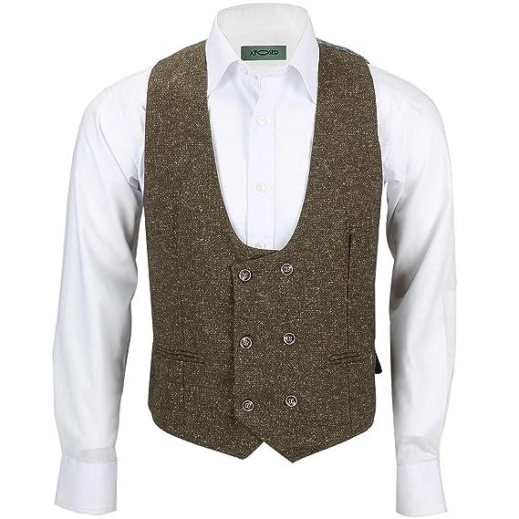 260129d633f Xposed Vintage Mens Tan Brown Tweed Wool 3 Piece Suit Sold Separately Retro  Blazer Waistcoat Trouser