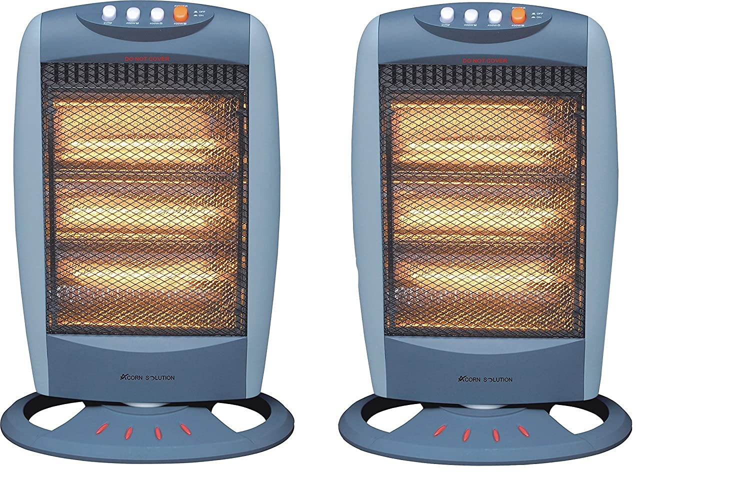 Acorn pack of 2 Oscillating Halogen Heater - 1200W - Tilt Safety Cut Off AcornSolution
