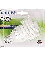 Philips Ampoule FluoCompacte Spirale Culot E27 23 Watts Consommés Équivalence Incandescence : 103W
