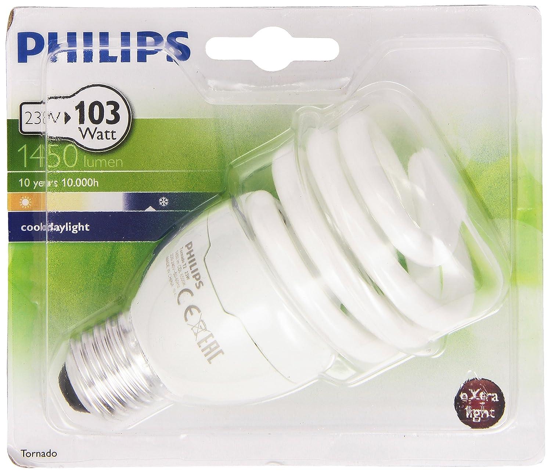 Philips Ampoule FluoCompacte Spirale Culot E27 23 Watts Consommé s É quivalence Incandescence : 103W 929689311602