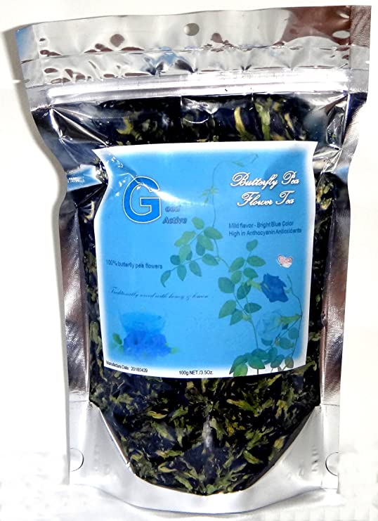 Amazon.com : 100% Pure Butterfly Pea Flower Tea - 100 g : Grocery & Gourmet Food