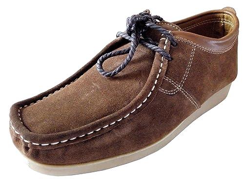 Générique - Mocasines de Ante Hombre, Marrón (Caoba), 41 EU: Amazon.es: Zapatos y complementos