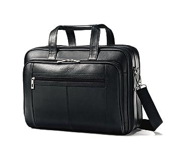 Samsonite Leather Checkpoint Friendly Case Black 9bf54ff28ea7e
