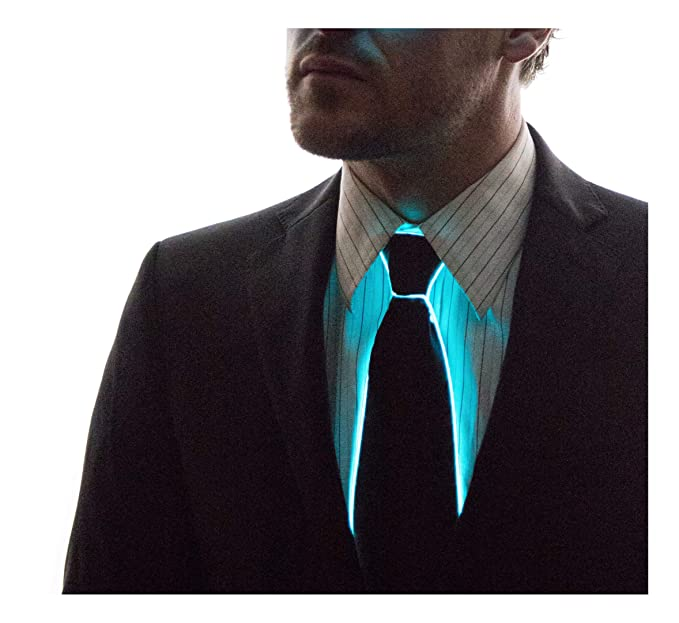 NEON NIGHTLIFE Hombres enciende para arriba corbata, Aqua: Amazon ...