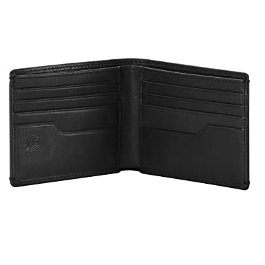 3b4e97bd6c HOJ Co. Eastwood Men's BIFOLD Wallet-Slim Leather Billfold Wallet-Classic  Construction-Divided Bill Compartment