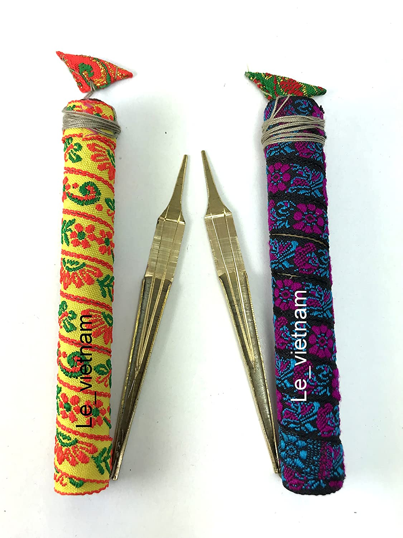 Dan Moi Jew's harp Jaw mouth Harp Brass Viet Nam Hmong Instrument vietnamese (DMK2 (2pcs)) vietnamcreations
