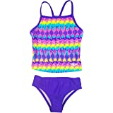 Speedo Girl's Sporty Splice Tankini 2 Piece Swimsuit