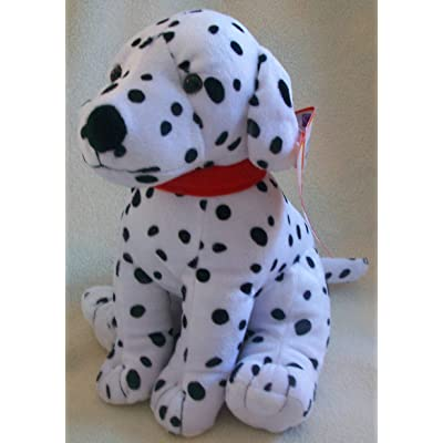 "15"" Plush Black and White Dalmatian Dog Sitting Toy: Toys & Games"