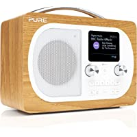 PURE 151108 Evoke H4 Portable DAB/DAB+ and FM Radio, with Bluetooth and Full Colour Display, Oak