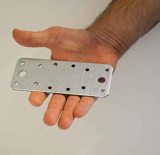 Pack of 10pcs 50 x 50 x 35mm x2mm Corner Braces Brackets Plates Metal Steel Sheet Galvanised 1.97x 1.97x 1.38x 0.08 Heavy Duty Wooden Angle