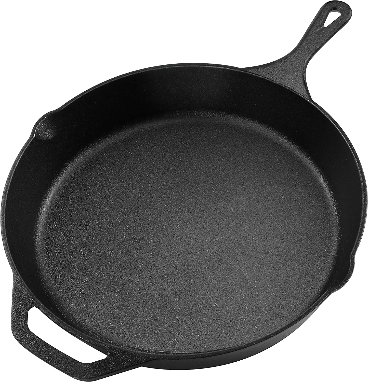 Utopia Kitchen Pre-Seasoned Cast Iron Skillet - 12.5 Inch - Multipurpose Use for Home Kitchen or Restaurant