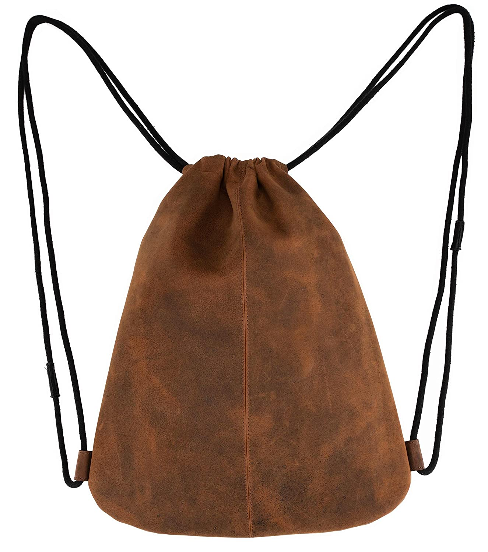LEABAGS Florida Gym Bag aus Echtem B/üffel-Leder im Vintage Look