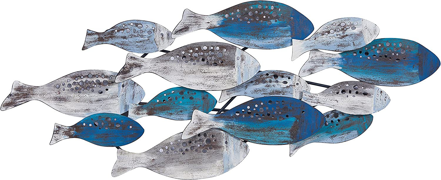 School of Fish Modern Metal Wall Art