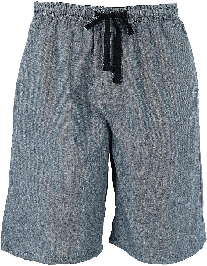 Hanes pantalones cortos de algodón Madras con cordón para dormir para hombre: Amazon.es: Ropa y accesorios