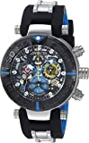 Invicta Men's 'Character Collection' Quartz Stainless Steel and Silicone Casual Watch, Color:Black (Model: 24476)